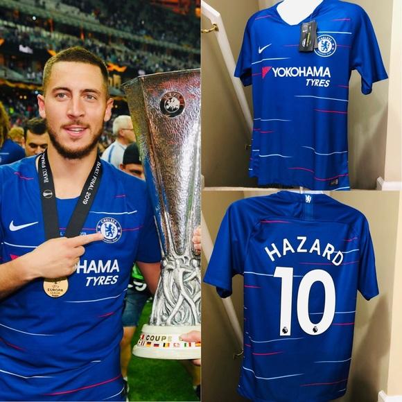 quality design 9e509 a3b9b 🔥 2019 Eden Hazard #10 Chelsea HOME Soccer Jersey NWT